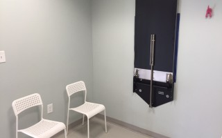 The dog exam room